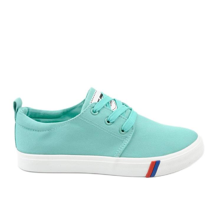 Green classic women's sneakers T-1743