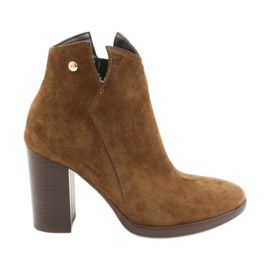 Gamis Leather suede boots on the post 4018 brown