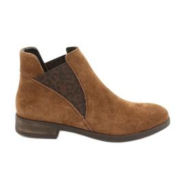 Gamis Chelsea boots, slip on suede 4036 brown