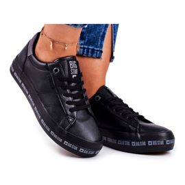 Women's Sneakers Big Star Black Snake GG274193