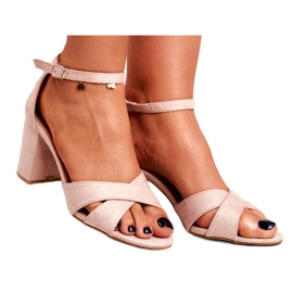 BUGO Women's Sandals Suede Beige Lady Million