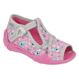 Befado children's shoes 213P120 pink silver grey
