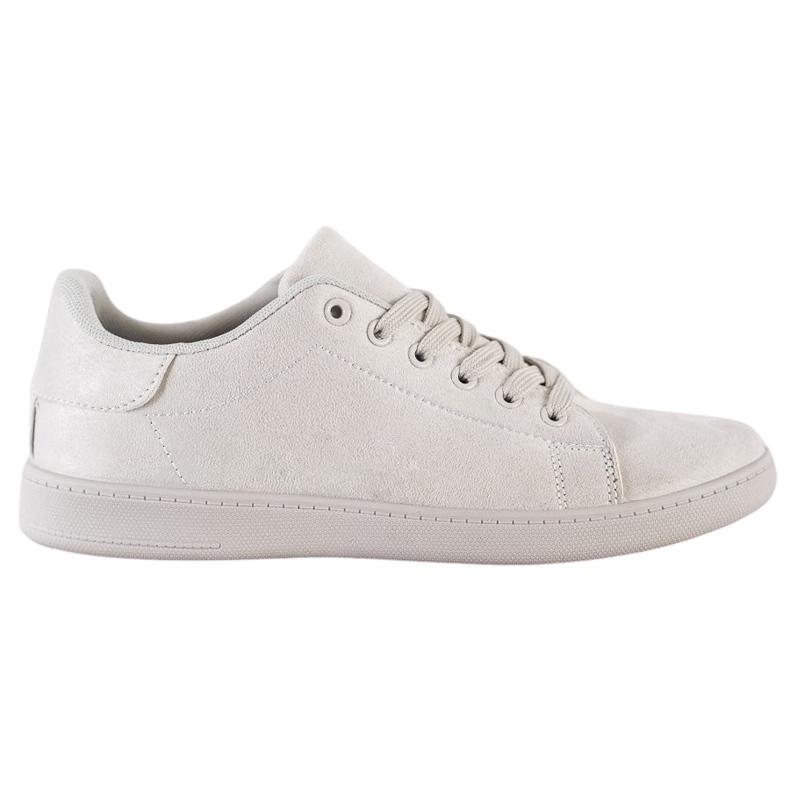 SHELOVET Gray Suede Sneakers grey