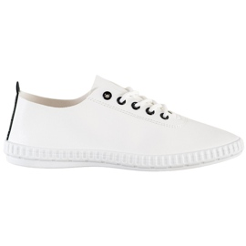 SHELOVET Light Sneakers With Eco Leather white