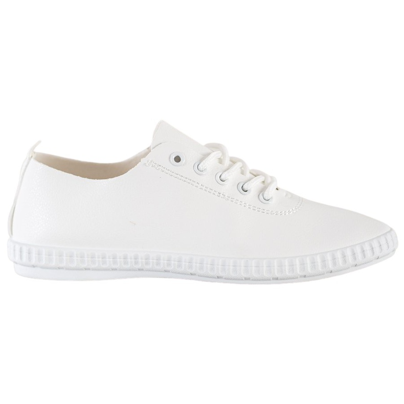 SHELOVET White Sneakers With Eco Leather