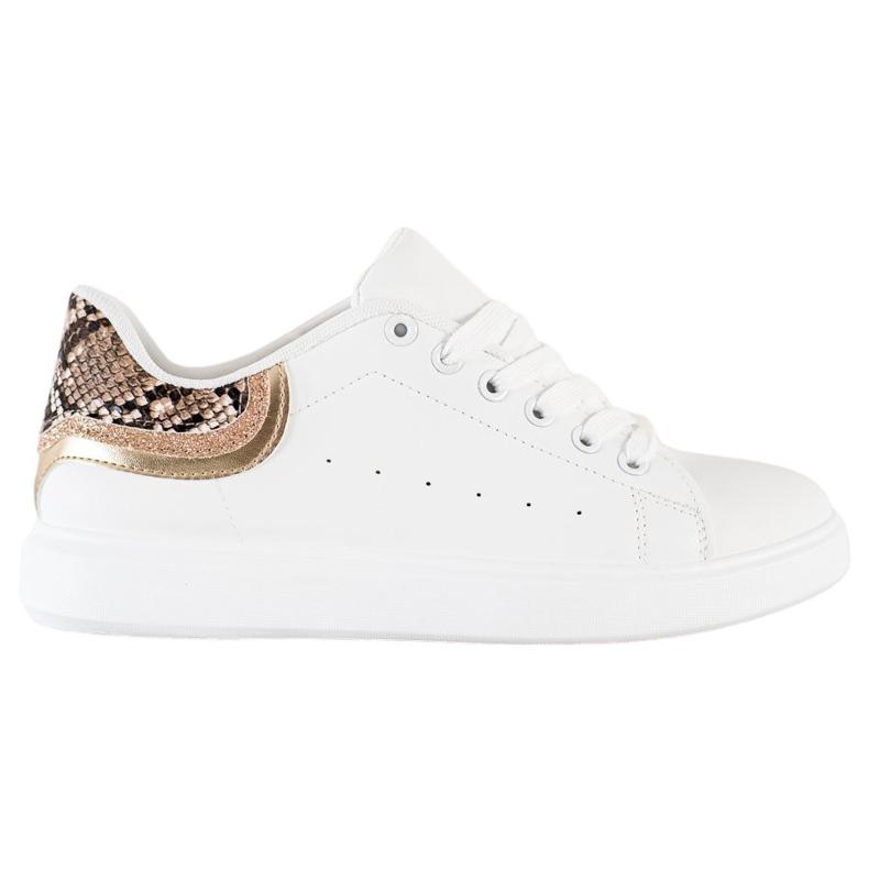 SHELOVET Comfortable White Sneakers