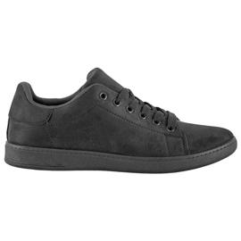 SHELOVET Black Suede Sneakers