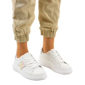 Classic white sneakers BK929-19 silver
