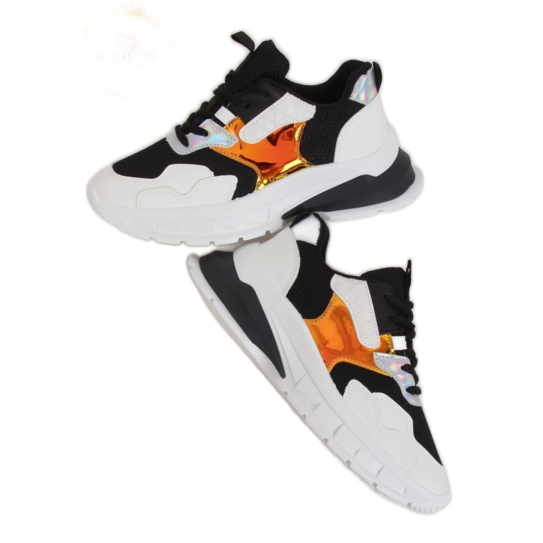 Black and white sports shoes BH003 Black
