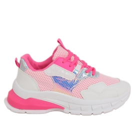 White and pink sports shoes BH003 Rose