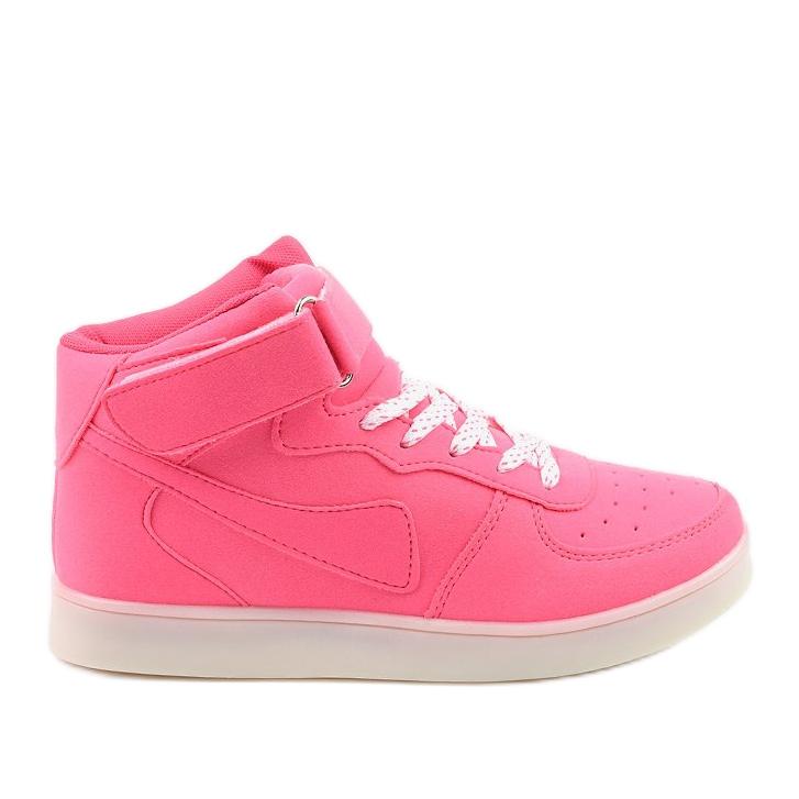 Sabana pink glowing high sneakers