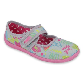 Befado children's shoes 945X430 pink grey multicolored