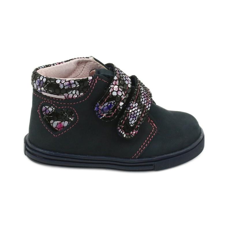 Velcro boots butterfly Mazurek 341 navy blue