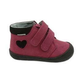 Velcro shoes heart Mazurek 1341 claret / black red