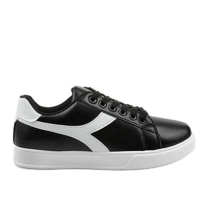 Stylish black women's sneakers LV99P-1 white