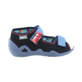 Befado yellow children's shoes 350P014 red navy blue