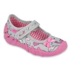 Befado children's shoes 109P204 pink silver grey