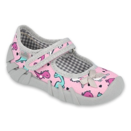 Befado children's shoes 109P205 pink silver grey