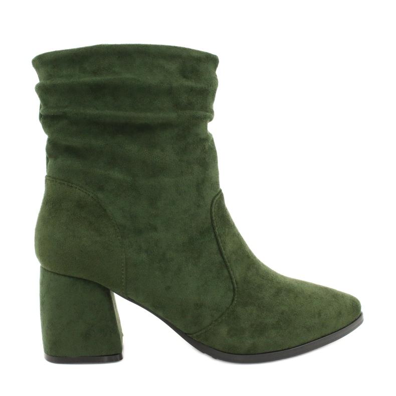 Daszyński Green MR2025-10 suede boots