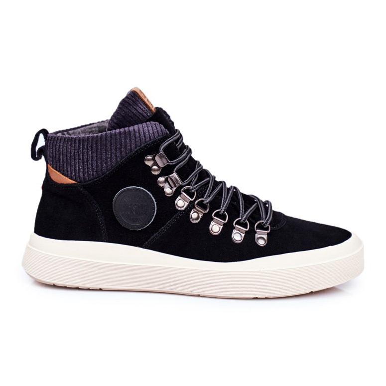 Men's Sneakers Leather Big Star Black GG174330