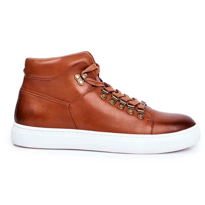 Men's Leather Sneakers GOE Brown GG1N3011