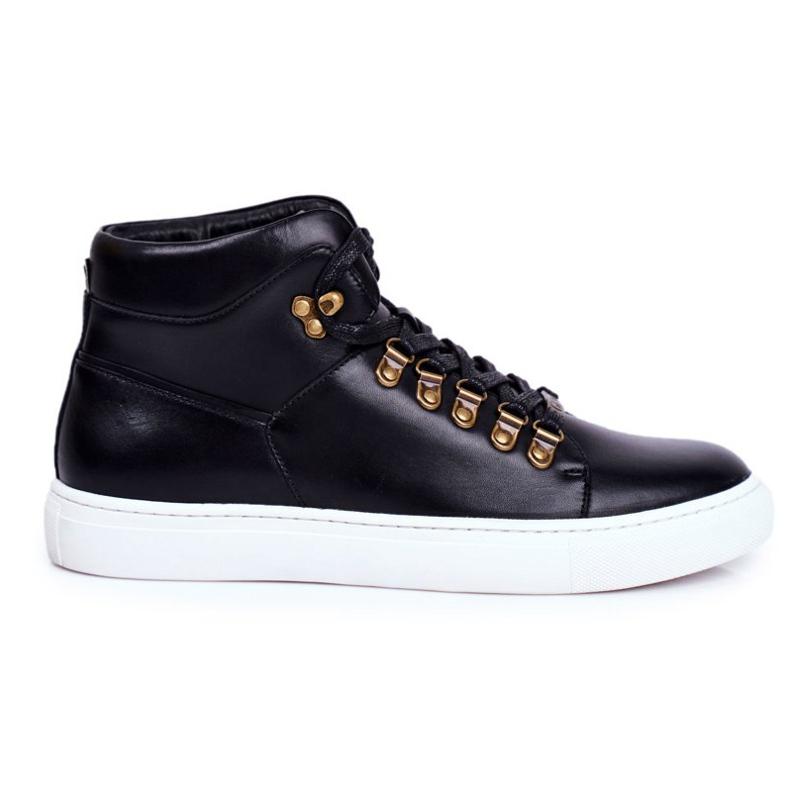 Men's Leather Sneakers GOE Black GG1N3009