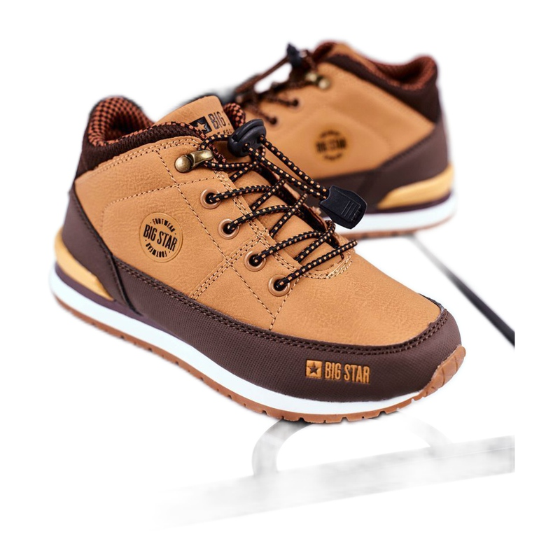 Children's Boots Big Star Camel GG374102 brown multicolored
