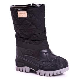Apawwa Children's Fur-insulated Snow Boots Black Mussi