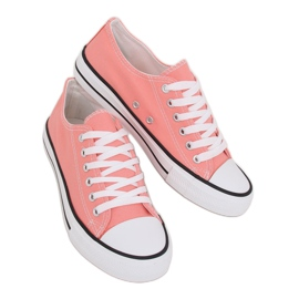 Classic women's coral sneakers JD05P Coral multicolored pink