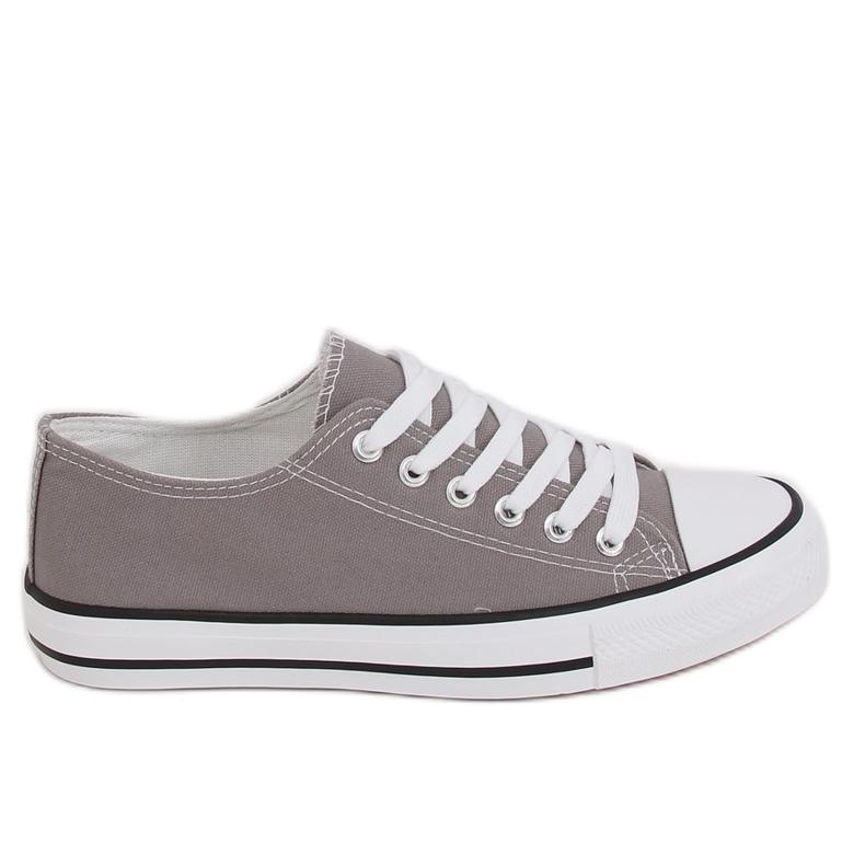 Gray classic women's sneakers JD05P Gray grey