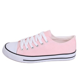 Classic women's sneakers light pink JD05P Pink