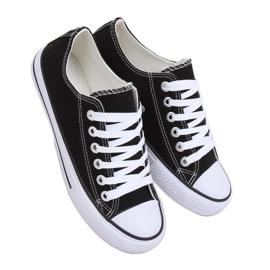 Classic black women's sneakers JD05 BLACK / WHITE