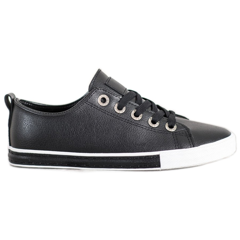 SHELOVET Eco Leather Sneakers black