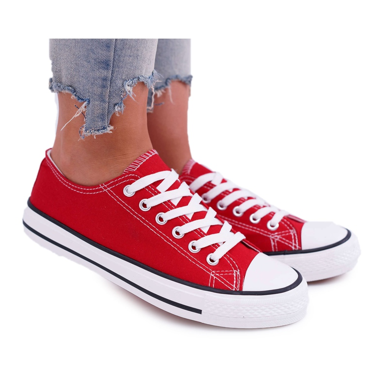 ADY Women's Sneakers Low Material Red FreeTime