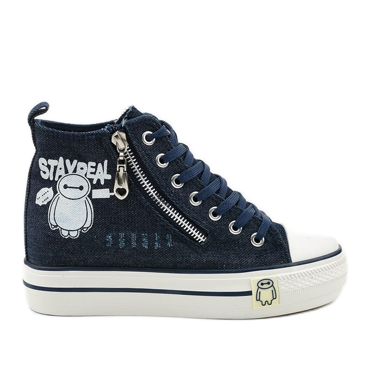 Navy Lynnhurst lace-up sneakers navy blue