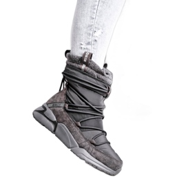 Women's snow boots Big Star Gray GG274629 grey