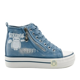 Blue Lynnhurst lace-up sneakers