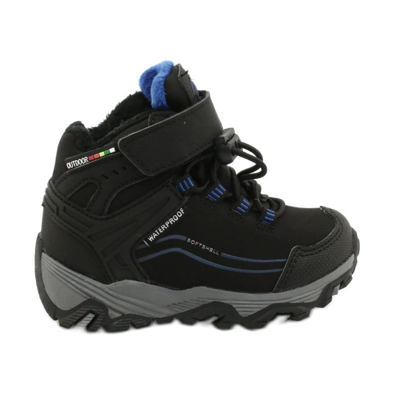 Softshell boots with American Club membrane black blue