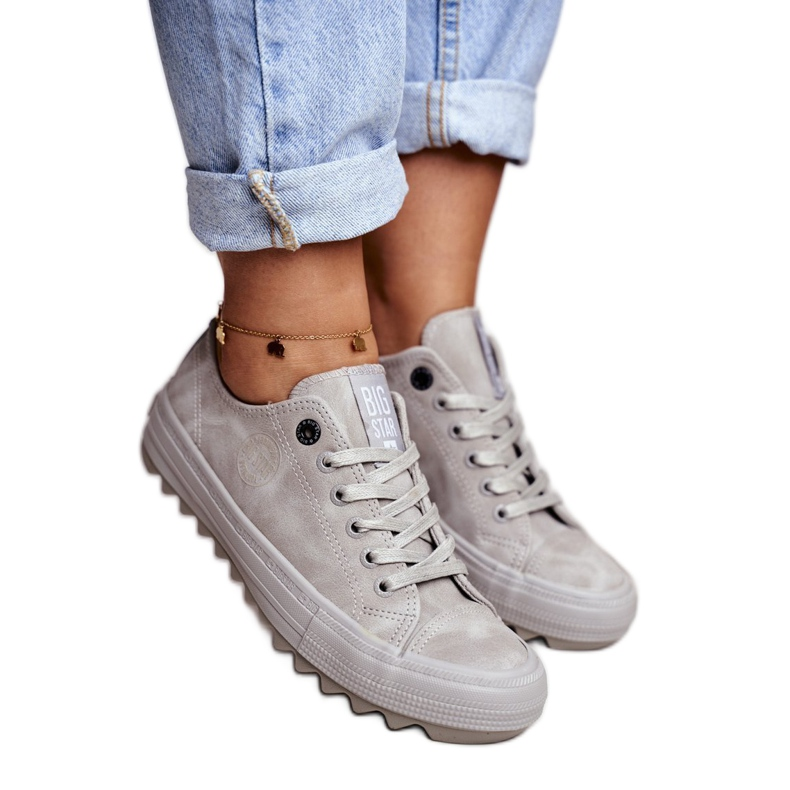 Women's Sneakers Big Star Gray GG274075 grey
