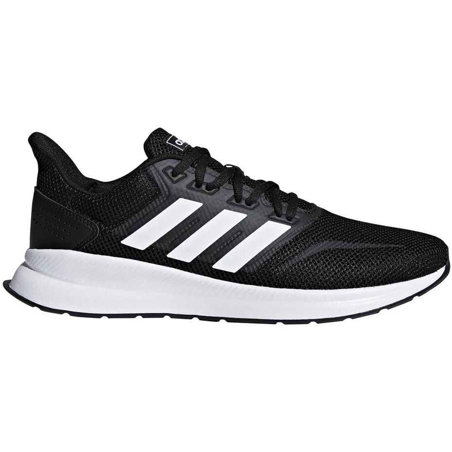 Adidas Runfalcon men's running shoes black and white F36199