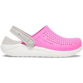 Crocs for kids LiteRide Clog Kids pink-white 205964 6QR