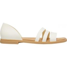 Crocs Women's Sandals Tulum Open Flat W Pearl 206109 1CQ white