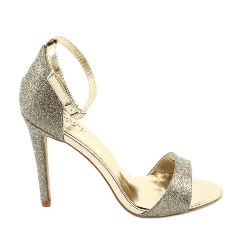 SEA Women's Gold Sandals Glitter Gold Fiver golden