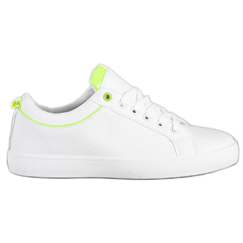SHELOVET Stylish Sneakers With Eco Leather white