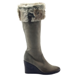 Caprice boots boots women leather 25607 grey