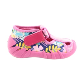 Befado children's shoes 190P097 blue pink silver yellow