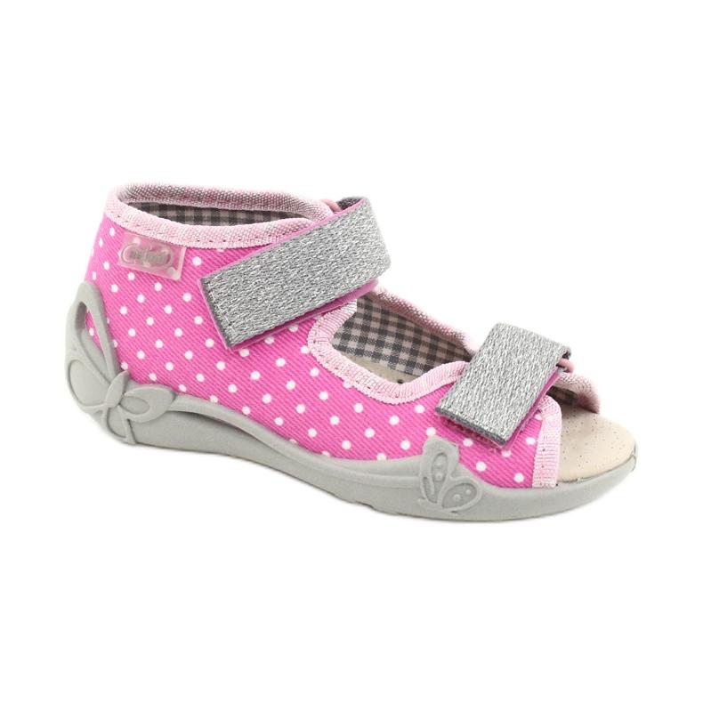 Befado yellow children's shoes 342P024 pink grey