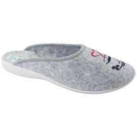 Felt Slippers Wake Up Adanex 25642 Gray black grey