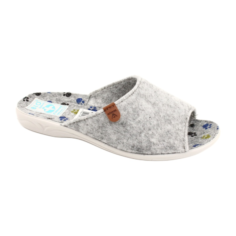 Felt slippers Adanex 25494 gray grey