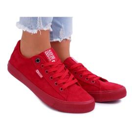 Women's Sneakers Big Star Suede Red EE274044